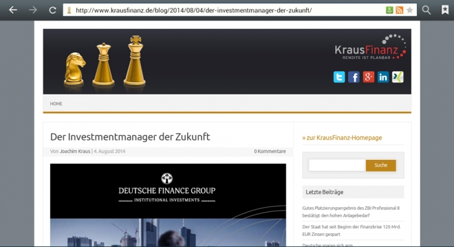 Kraus Finanz bewirbt Deutsche Finance Group